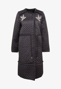 Needle & Thread - BIRDIE LOVE QUILTED COAT - Zimní kabát - graphite - 4