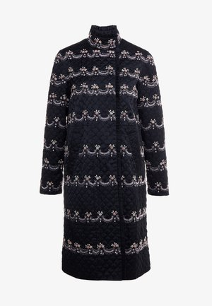 NEVE EMBELLISHED QUILTED COAT - Mantel - ballet black