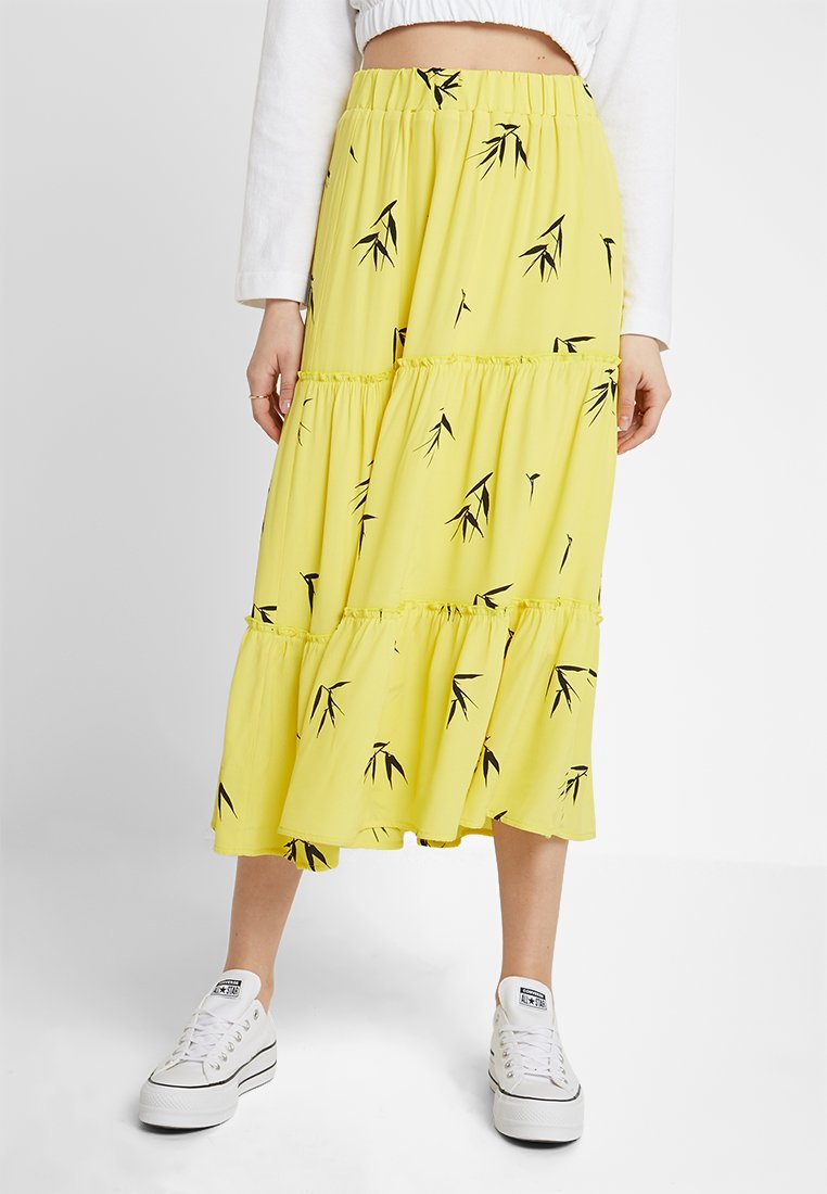 Nümph - KAIYA SKIRT - A-line skirt - yellow/black