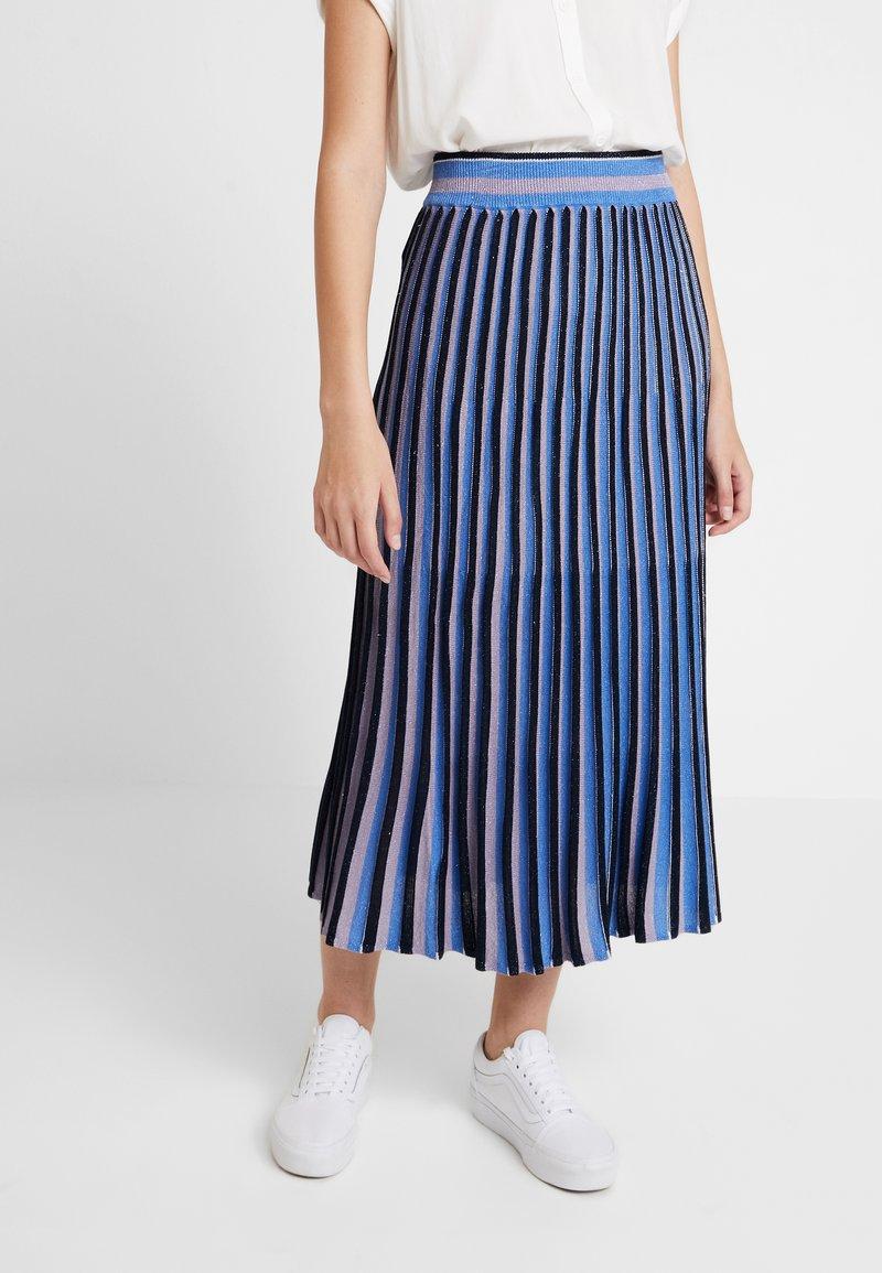 Nümph - LIOR SKIRT - Maxi skirt - dark sapphire