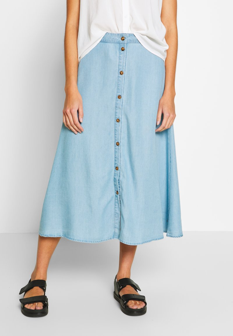 Nümph - AHNA SKIRT - Áčková sukně - blue