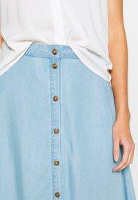 Nümph - AHNA SKIRT - Áčková sukně - blue - 5