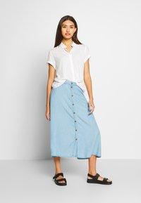 Nümph - AHNA SKIRT - Áčková sukně - blue - 1