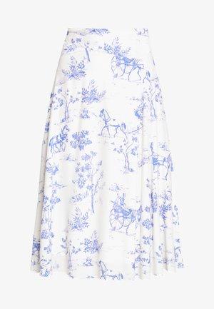 NUARIZILLA SKIRT - A-line skirt - blue/off-white