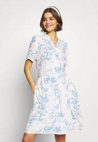 Nümph - NUARZILLA DRESS - Kjole - blue/off-white - 0