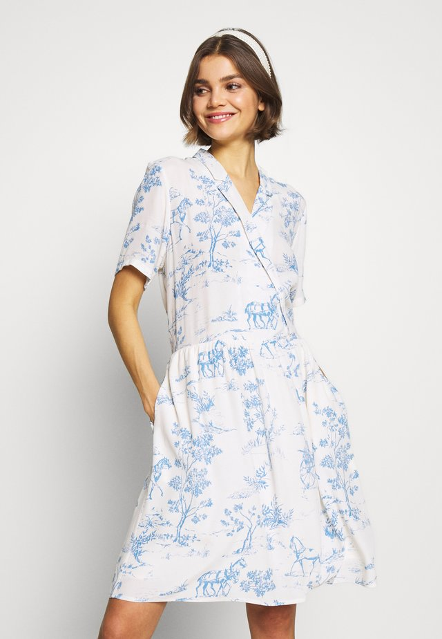 NUARZILLA DRESS - Korte jurk - blue/off-white