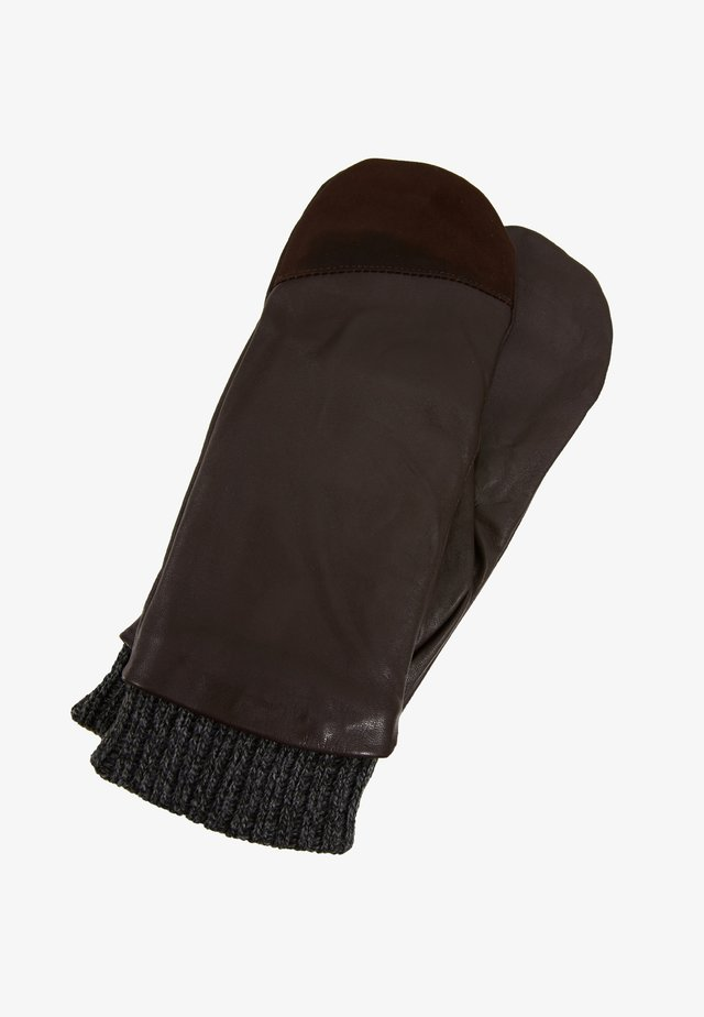 NUMORNA  MITTENS - Mittens - seal brown