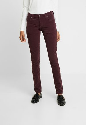 SKINNY LIN - Spodnie materiałowe - burgundy