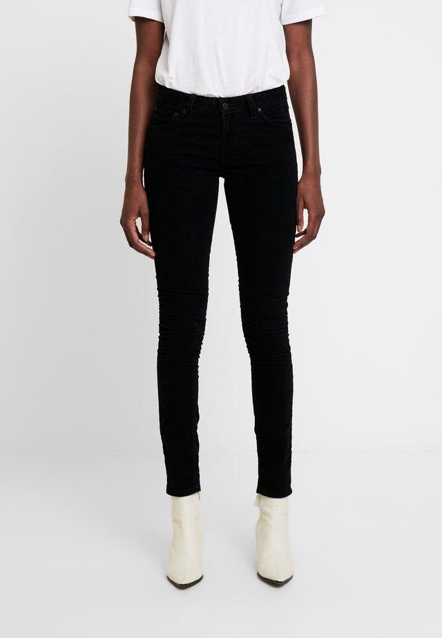 SKINNY LIN - Spodnie materiałowe - black