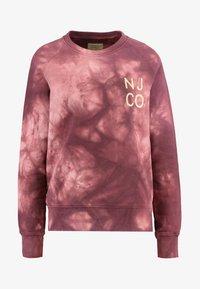 Nudie Jeans - MELVIN - Sweatshirt - bordeaux/light pink - 3