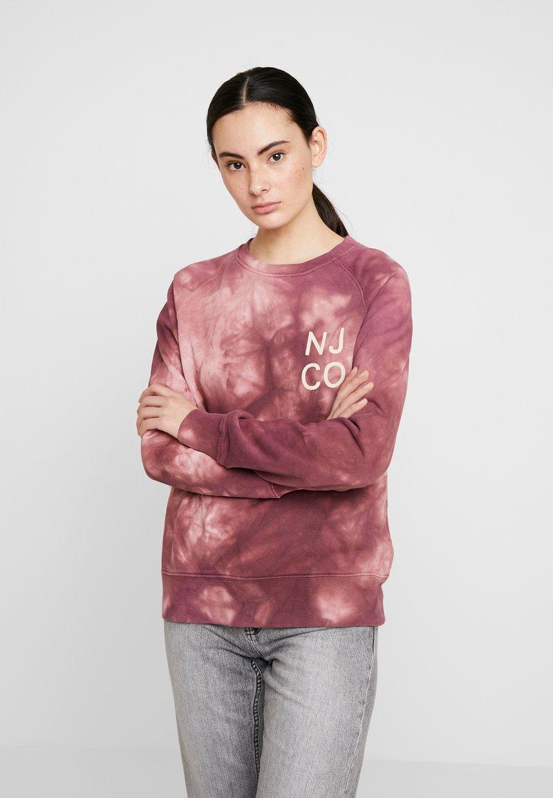 Nudie Jeans - MELVIN - Sweatshirt - bordeaux/light pink
