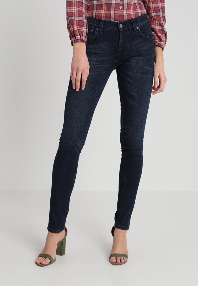 Nudie Jeans - TIGHT TERRY - Jeansy Slim Fit - worn indigo