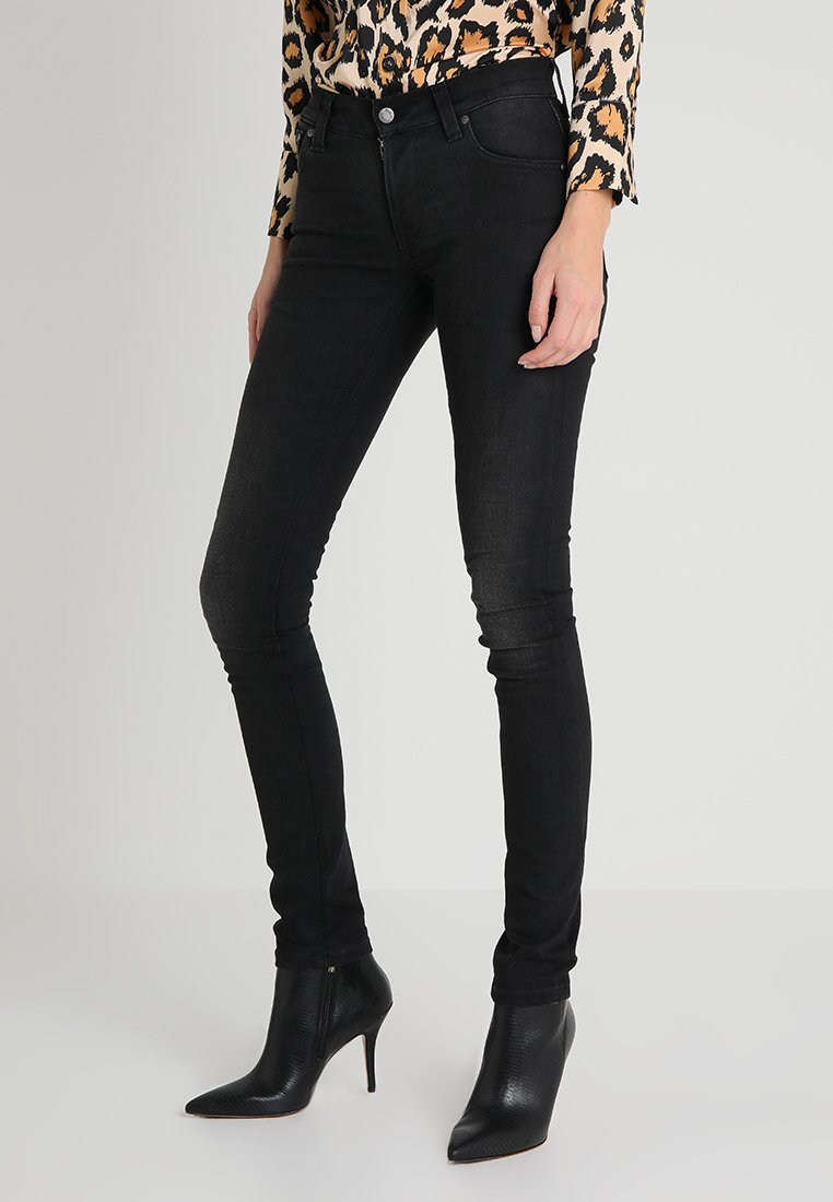 Nudie Jeans - TIGHT TERRY - Slim fit -farkut - authentic black