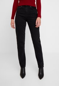 Nudie Jeans - BREEZY BRITT - Relaxed fit -farkut - black worn - 0