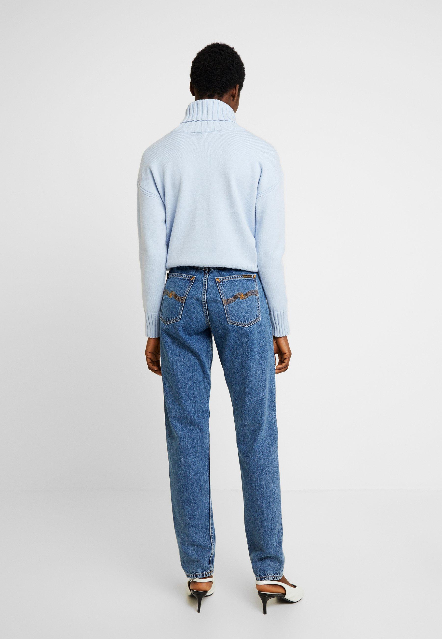 Nudie Jeans Breezy Britt - Straight Leg Friendly Blue