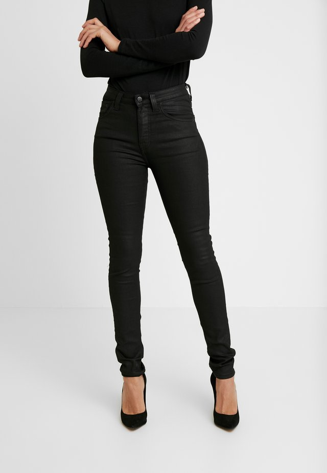 HIGHTOP TILDE - Jeansy Skinny Fit - painted black