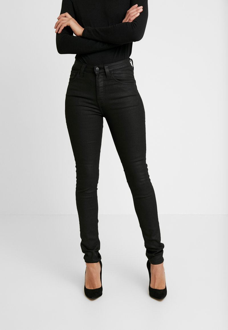 Nudie Jeans - HIGHTOP TILDE - Jeansy Skinny Fit - painted black