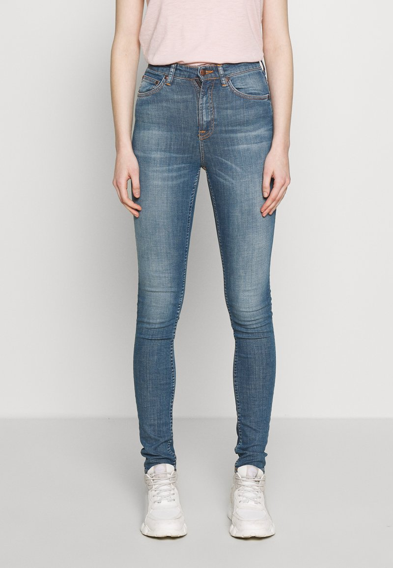 Nudie Jeans - HIGHTOP TILDE - Skinny džíny - blue denim