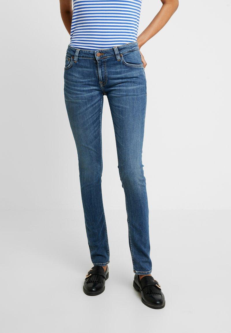 Nudie Jeans - LIN - Skinny-Farkut - dark blue navy