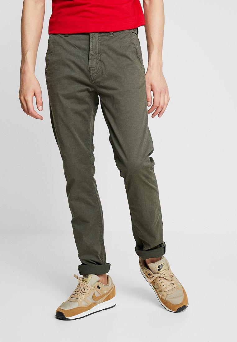 Nudie Jeans - SLIM ADAM - Trousers - olive