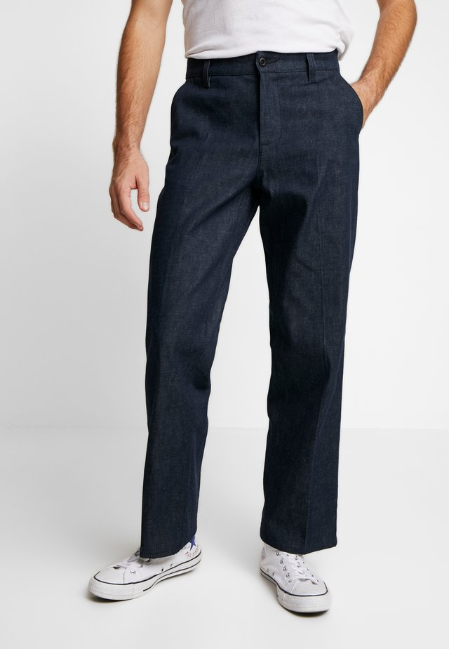 LAZY LEO - Jeans straight leg - dry classic slub