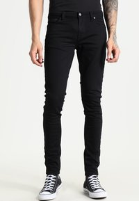 Nudie Jeans - SKINNY LIN - Jeans Skinny Fit - black denim - 0