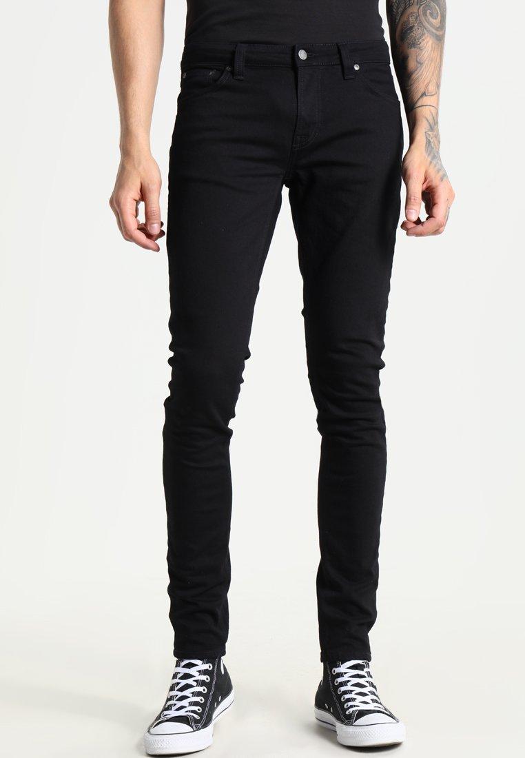 Nudie Jeans - SKINNY LIN - Jeans Skinny Fit - black denim