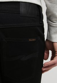 Nudie Jeans - LEAN DEAN - Slim fit jeans - dry cold black - 5