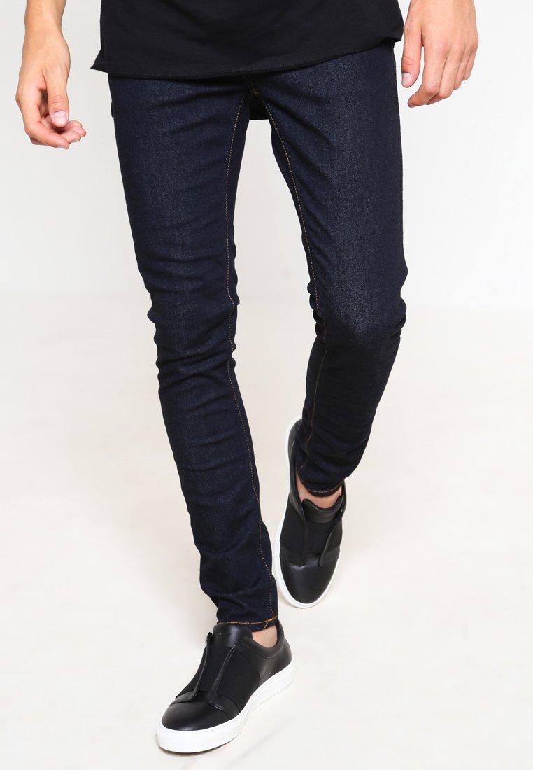 Nudie Jeans - SKINNY LIN - Jeansy Skinny Fit - dry deep orange