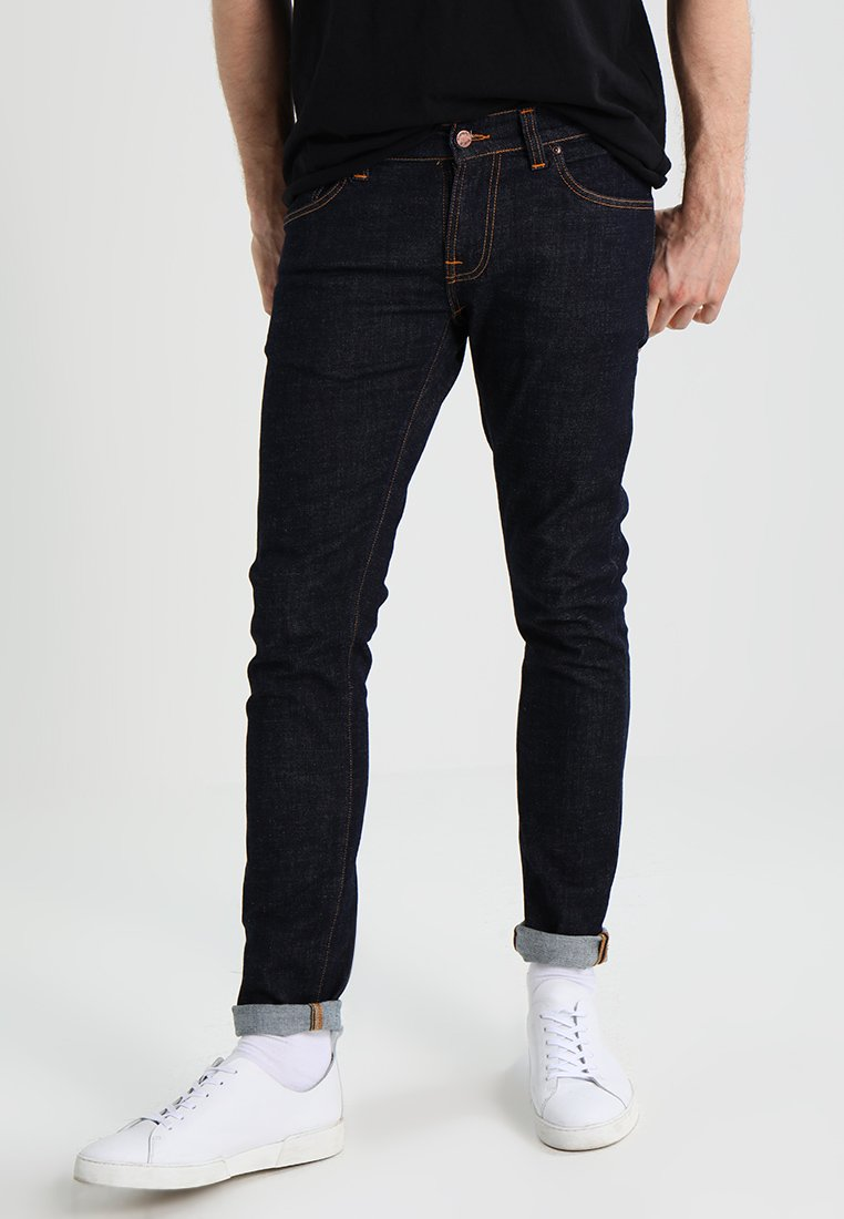 Nudie Jeans - TIGHT TERRY - Vaqueros pitillo - rinse twill