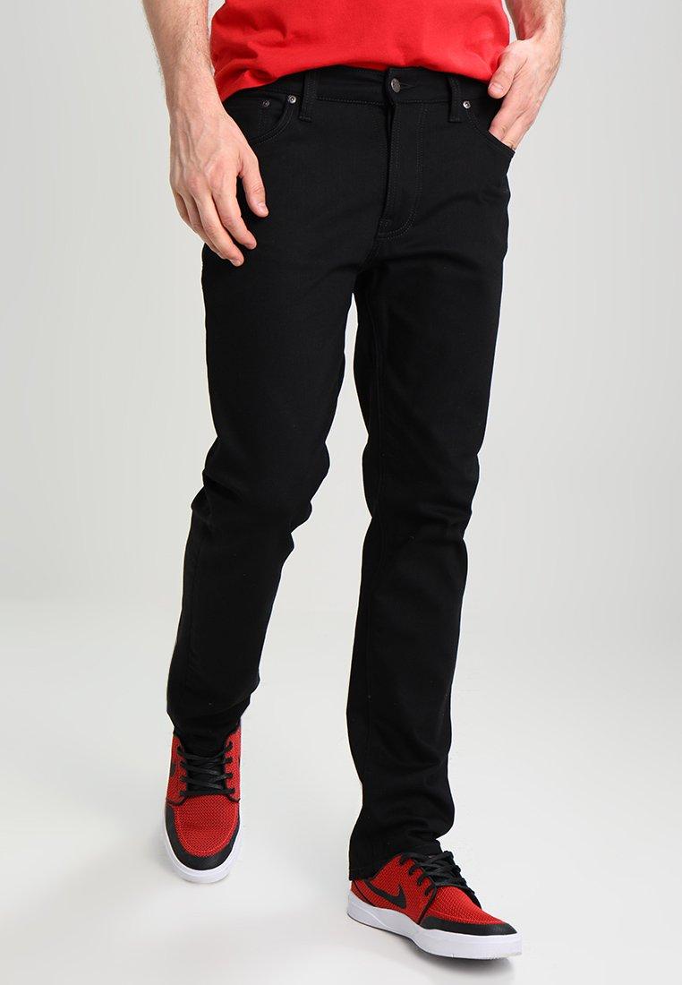Nudie Jeans - DUDE DAN - Straight leg -farkut - dry ever black