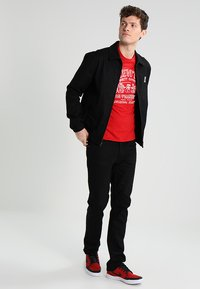 Nudie Jeans - DUDE DAN - Straight leg -farkut - dry ever black - 1