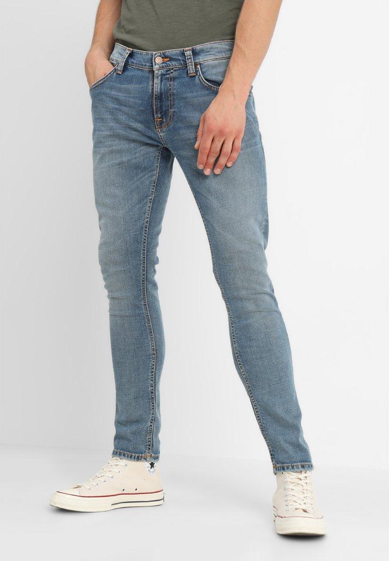 Nudie Jeans - TIGHT TERRY - Jeans Skinny Fit - steel indigo cross