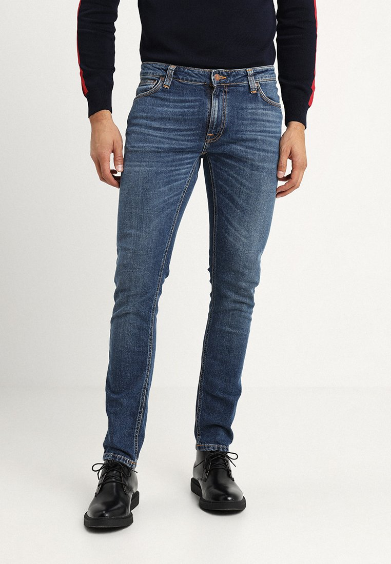 Nudie Jeans - SKINNY LIN - Vaqueros pitillo - mid authentic power