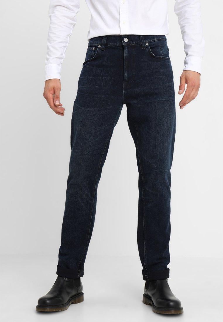 Nudie Jeans - LEAN DEAN - Straight leg jeans - worn dark indigo
