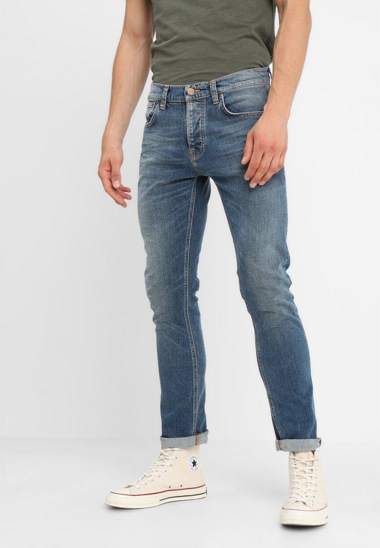Nudie Jeans - GRIM TIM - Jeans Slim Fit - mid authentic indigo