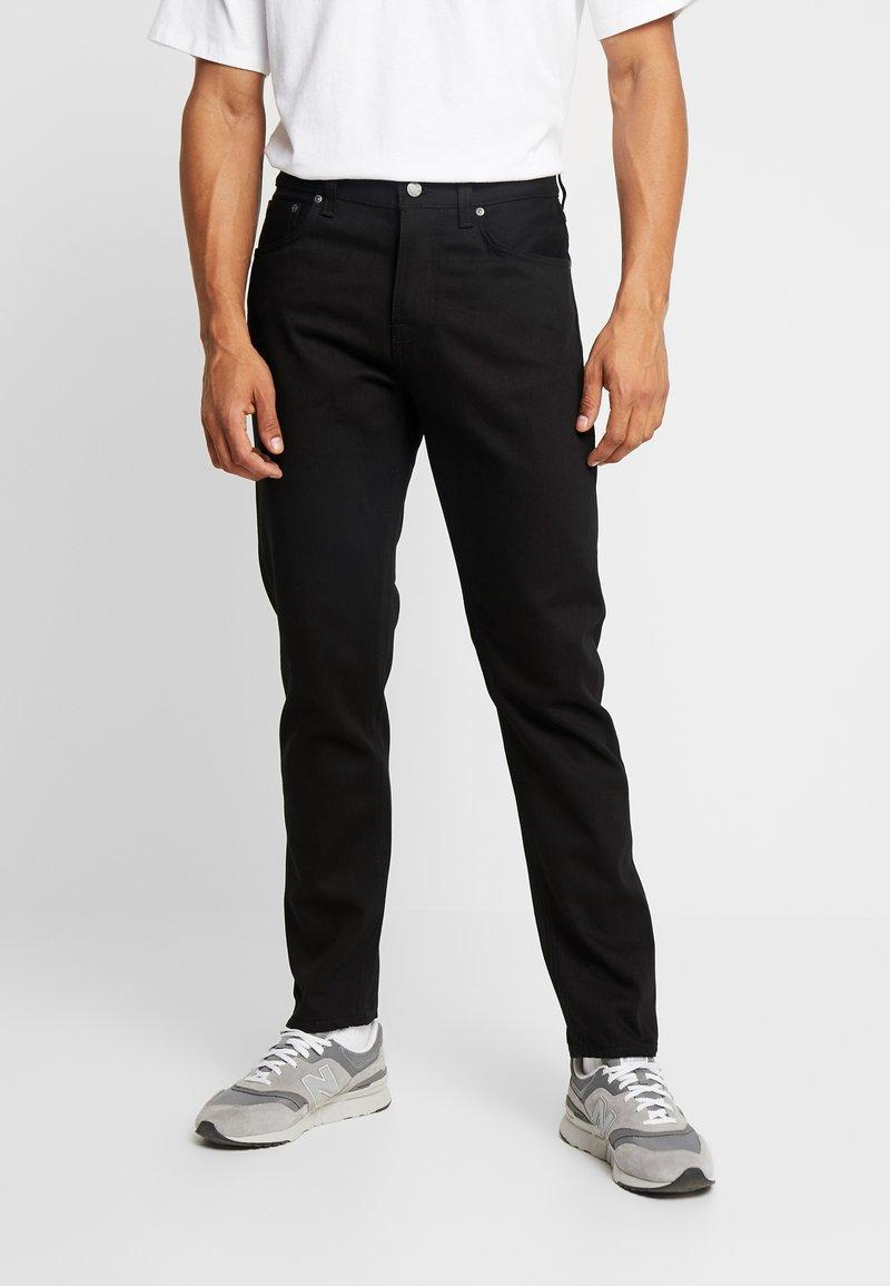 Nudie Jeans - STEADY EDDIE  - Straight leg -farkut - black denim