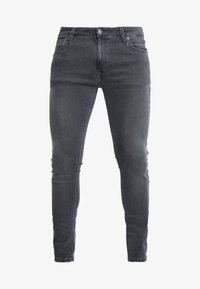 Nudie Jeans - LIN - Skinny džíny - concrete grey - 4
