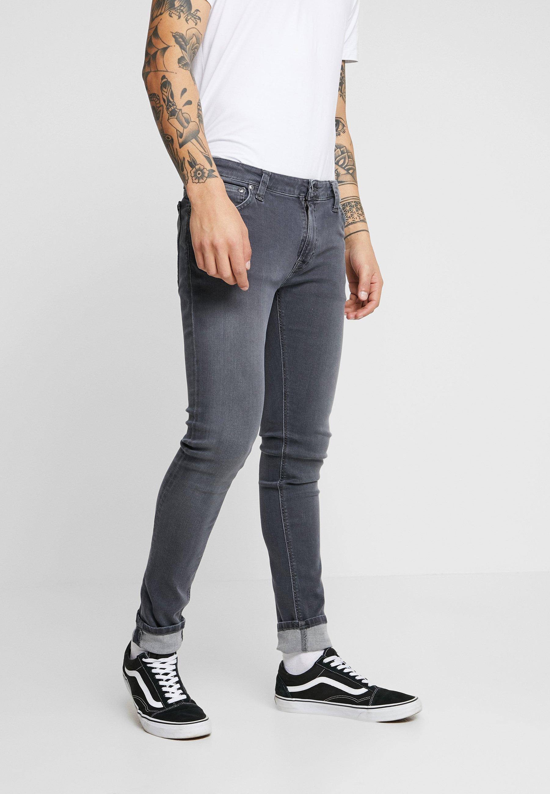 Nudie Jeans SKINNY LIN - Jeansy Skinny Fit - concrete grey