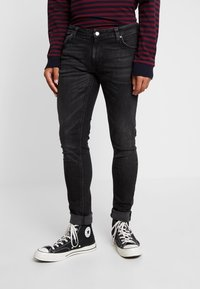 Nudie Jeans - SKINNY LIN - Jeans Skinny Fit - worn black - 0