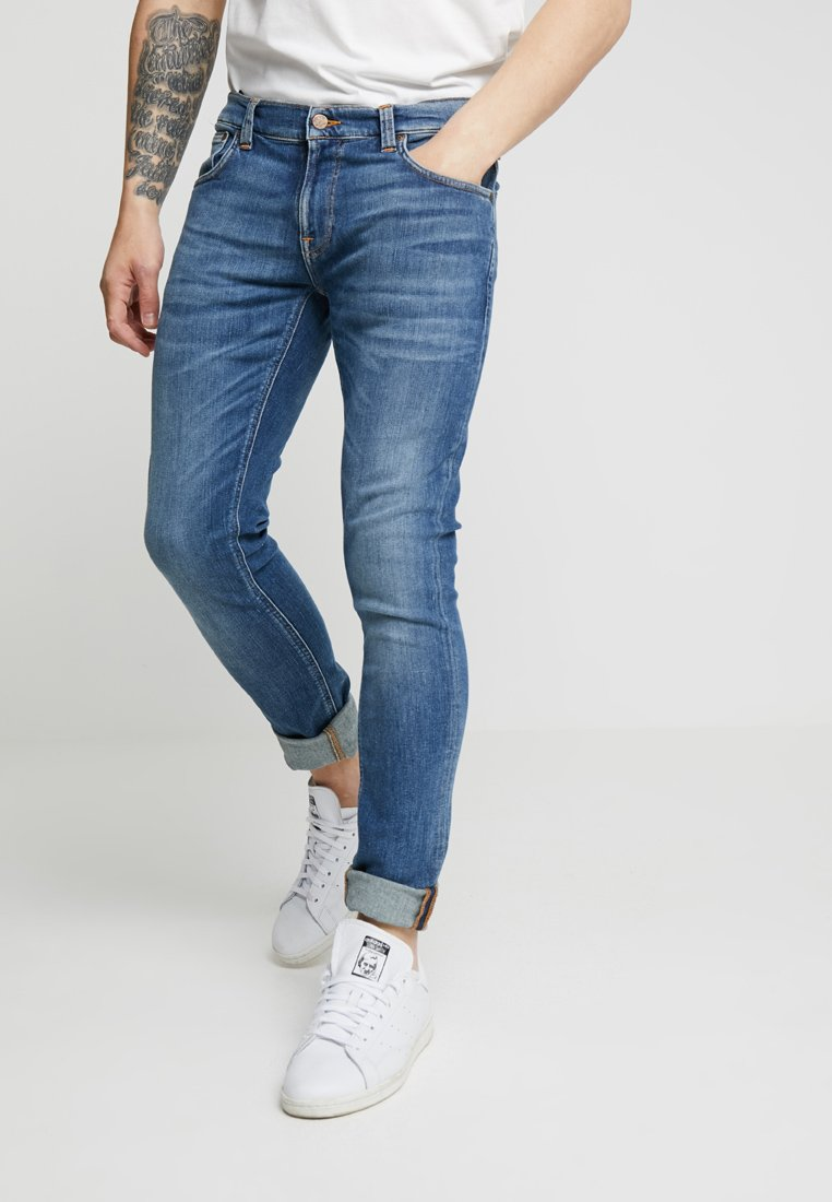 Nudie Jeans - TIGHT TERRY - Jeans Skinny Fit - steel navy