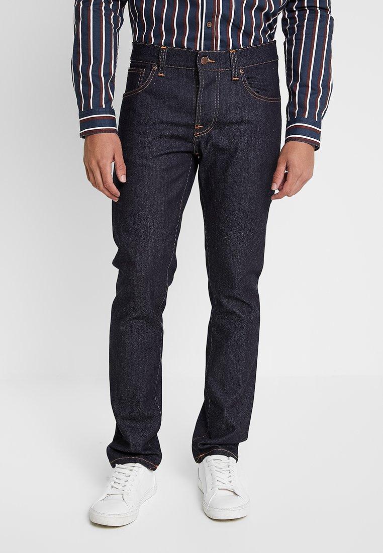 Nudie Jeans GRIM TIM - Jeansy Straight Leg - dry true navy
