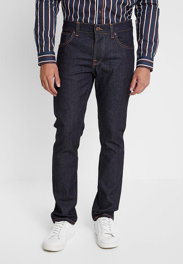 GRIM TIM - Straight leg jeans - dry true navy
