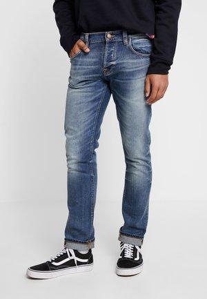 GRIM TIM - Slim fit jeans - blue denim