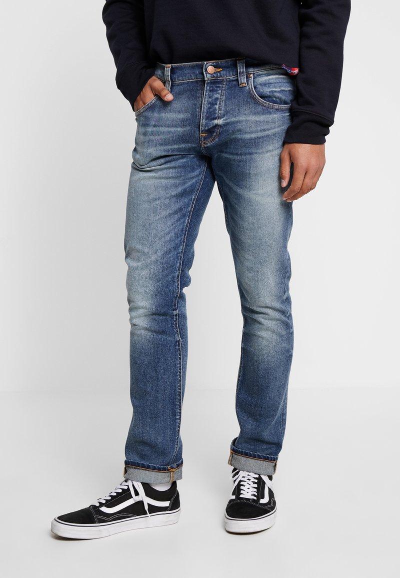 Nudie Jeans - GRIM TIM - Vaqueros slim fit - blue denim