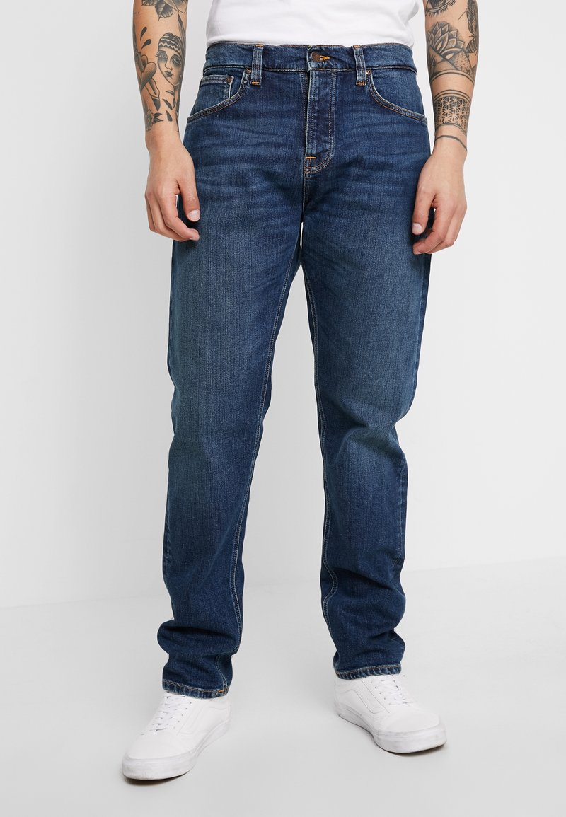 Nudie Jeans - STEADY EDDIE - Straight leg jeans - dark classic