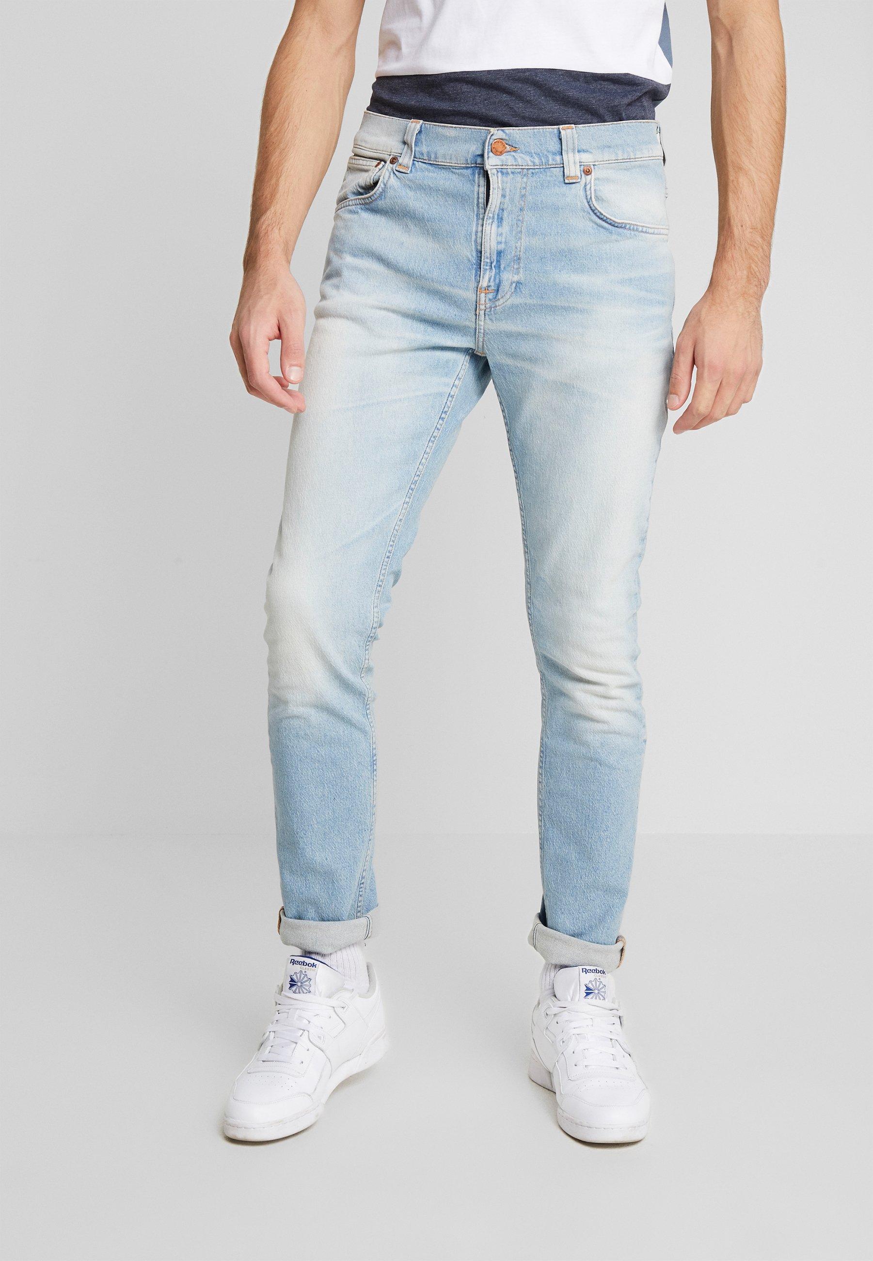 Nudie Jeans LEAN DEAN - Jeansy Slim Fit - faded meadow