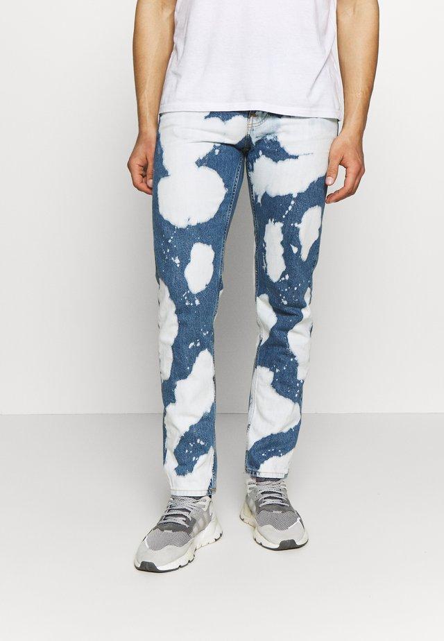 STEADY EDDIE - Jeans Straight Leg - blue denim/white