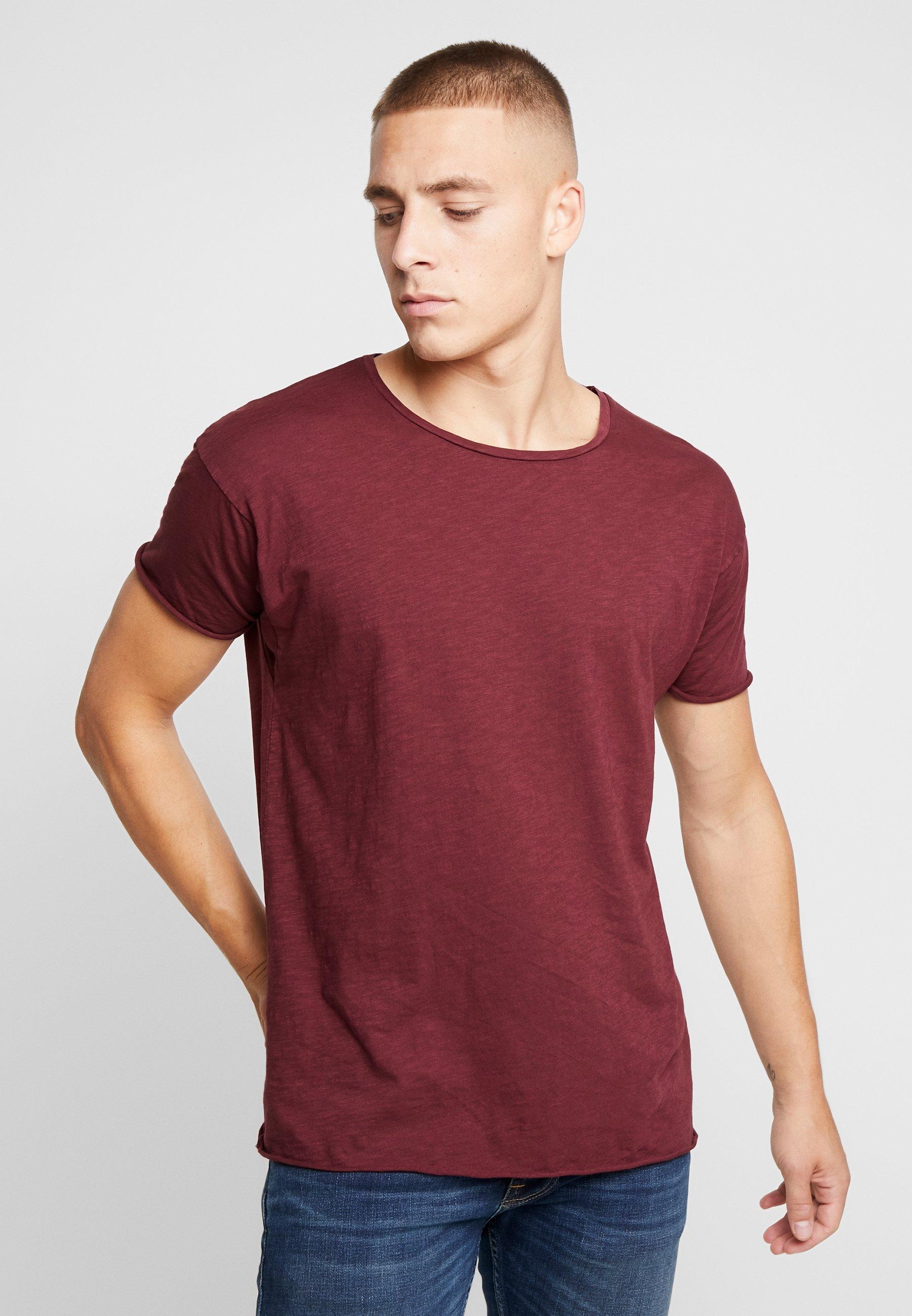 Nudie Jeans ROGER - T-shirt basic - bordeaux