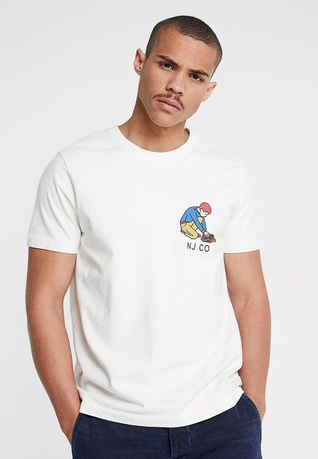 ROY - T-shirt z nadrukiem - offwhite